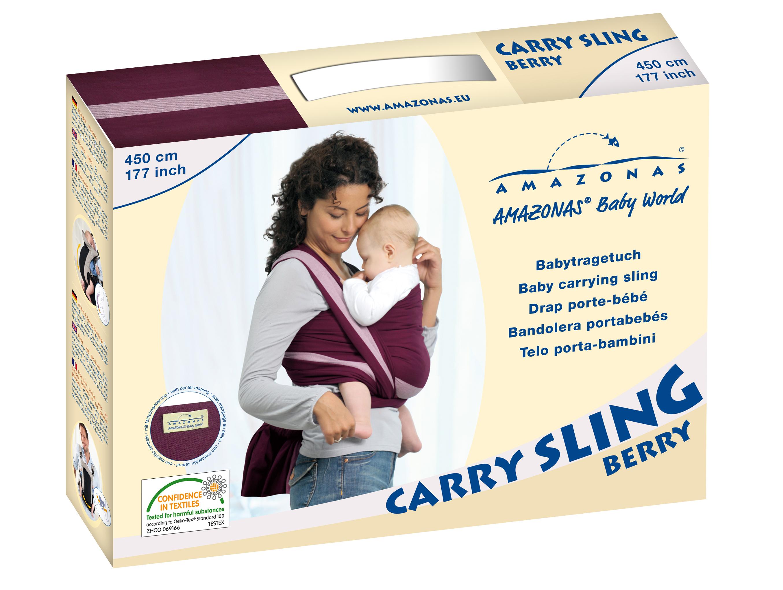 Šátek na nošení dětí Carry Sling Berry 450  763ab58821
