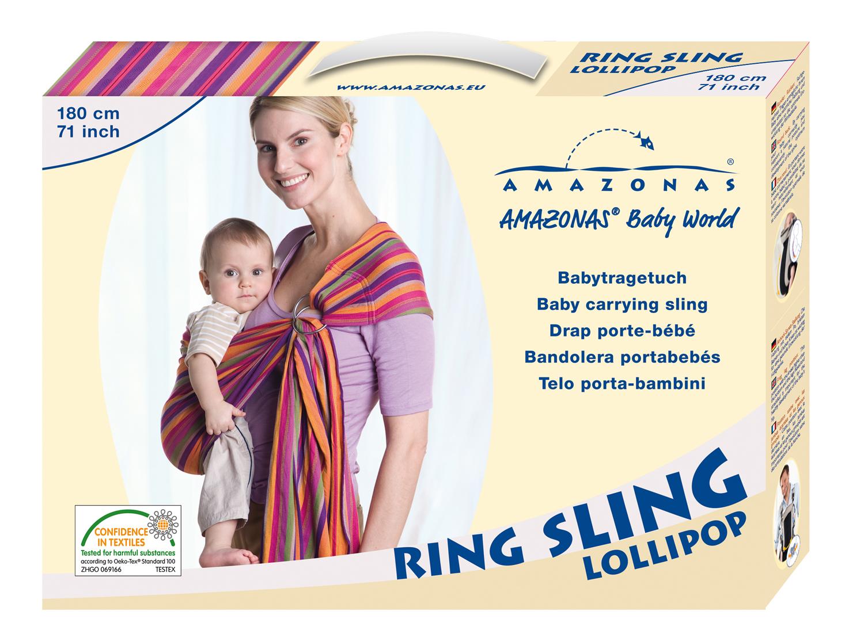 Šátek na nošení dětí Ring Sling Lollipop 180  ecdb6c9ad4
